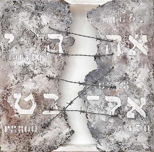 Parola del Signore. Shoah. 2010. 50x50. Tecnica Mista.