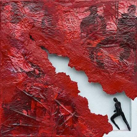 Oltre il Limite del Muro. 2013. 50x50. Tecnica Mista.