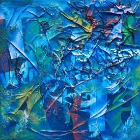 Crollo della Materia. 2008. 100x100. Tecnica Mista.